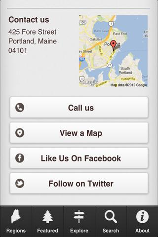 The Maine App - screenshot