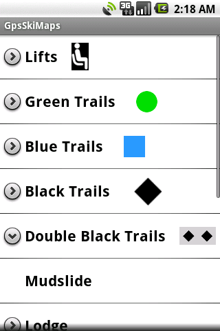 Gps Ski Maps USA/CAN 5 resorts - screenshot