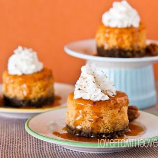 Mini Pumpkin Cheesecakes with Gingersnap Crust Recipe