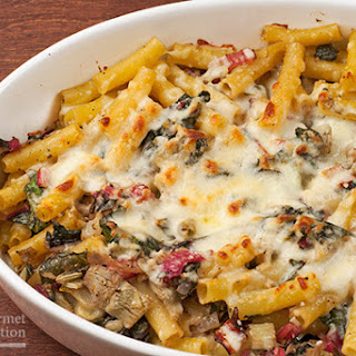 Baked Ziti with Swiss Chard and Artichokes