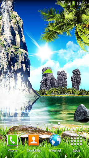 Tropical Waterfall Wallpaper