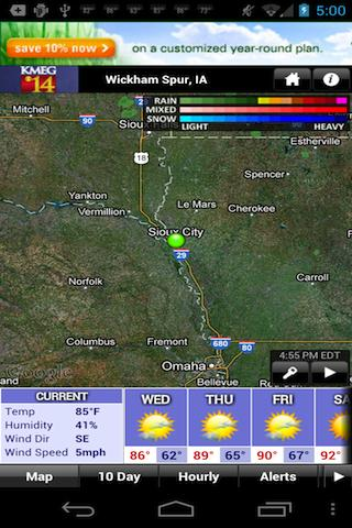 Siouxland Weather - screenshot