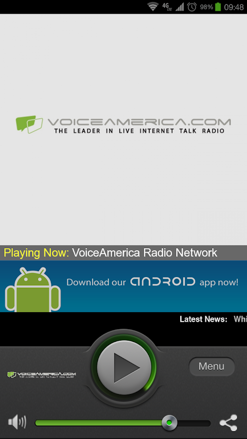 VoiceAmerica Radio Network - screenshot