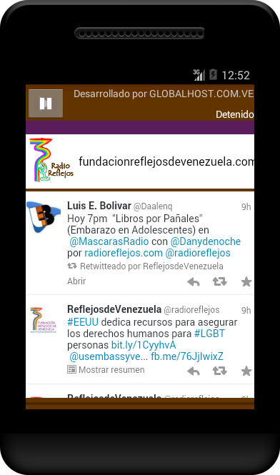 RADIO REFLEJOS- screenshot