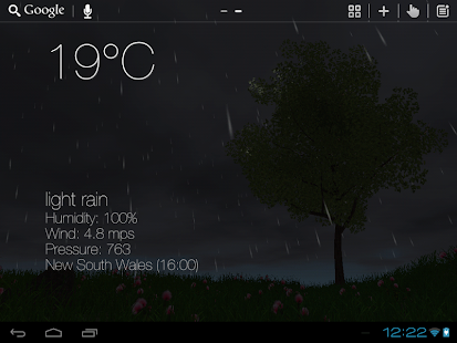 Nature Live Weather 3D LWP- screenshot thumbnail