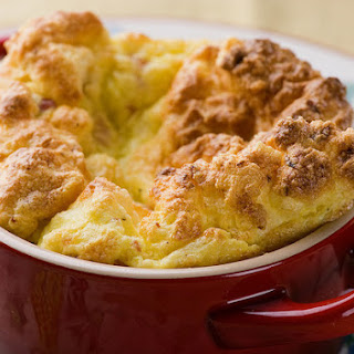 Ham and Cheese Souffle.