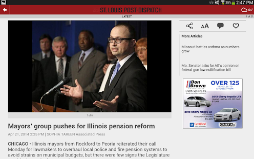 St. Louis Post-Dispatch - screenshot thumbnail