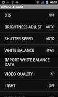 Screenshot of JVC CAM Control Single