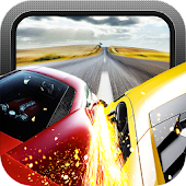 Red Speed Racer 3D Car Chase