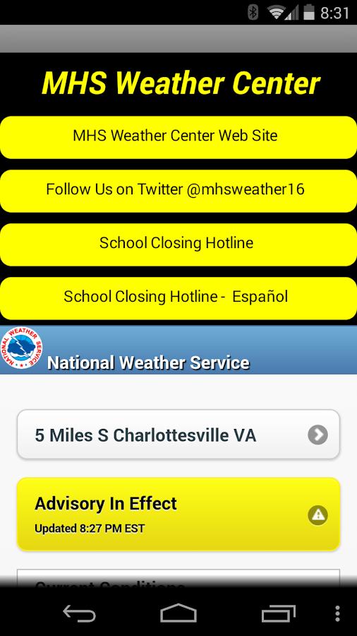 Monticello High Weather Center - screenshot