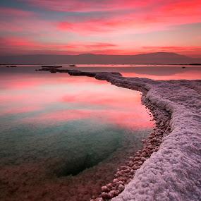 Dead Sea by Aviv Maister - Landscapes Sunsets & Sunrises ( aviv )
