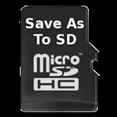 SaveAs to SDCard