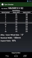 Screenshot of Tyre Pressure Checker