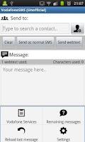 Screenshot of Vodafone SMS (Unofficial)