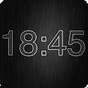 Horloge numérique métal icon