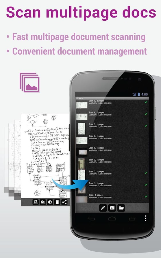 Mobile Doc Scanner (MDScan) - screenshot