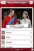 Screenshot of Royal Marriages -Top Marriages