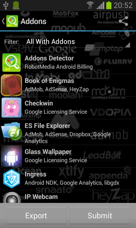 Addons Detector - screenshot