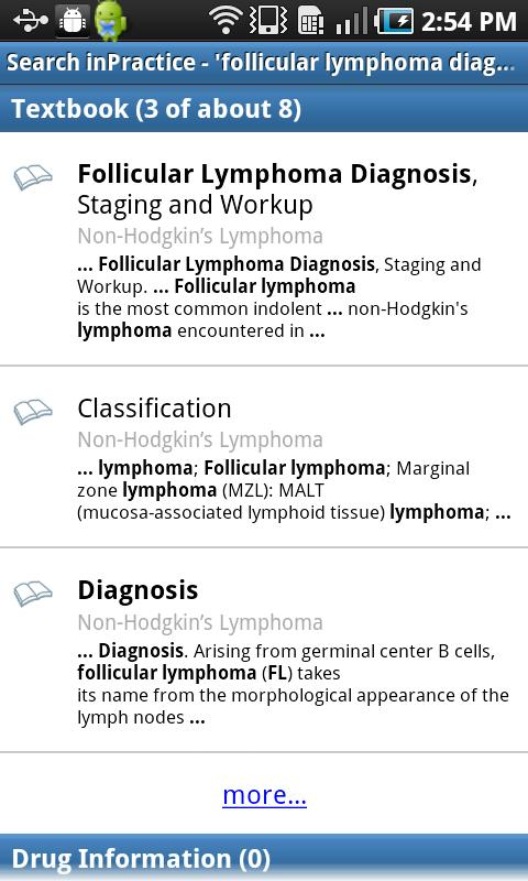 inPractice® Oncology - screenshot