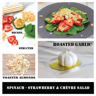 Spinach, Strawberry and Chevre Salad.