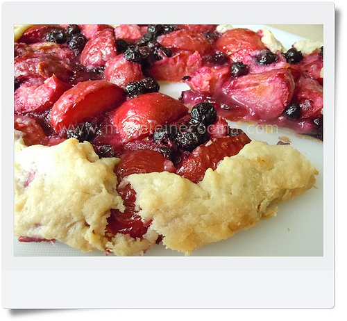Plum and Cranberry Galette Recipe