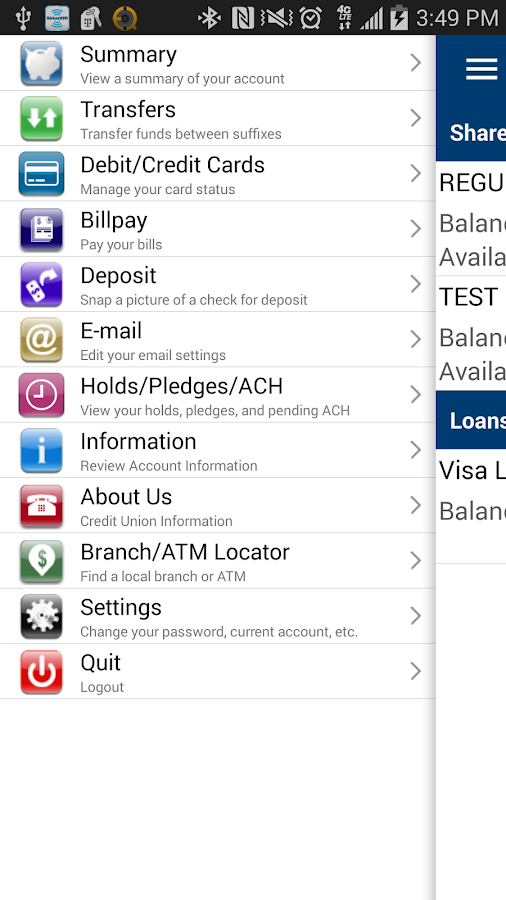 Granite CU Mobile Banking - screenshot