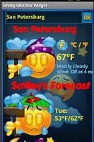 Screenshot of Smiley Weather Widget
