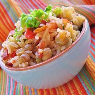 Bahamian Style Peas and Rice.