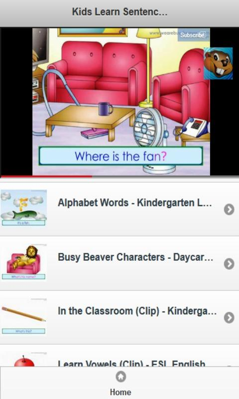Kids Learn Sentences Cartoon - screenshot