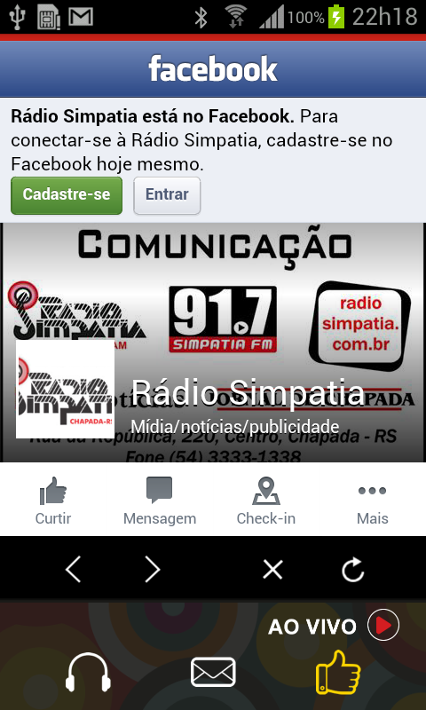 Rádio Simpatia 1500 AM- screenshot