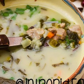 Traditional lamb soup. Romanian spring lamb soup, an Easter favorite.