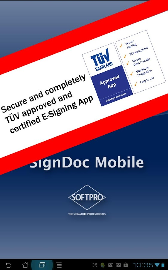SignDoc Mobile- screenshot