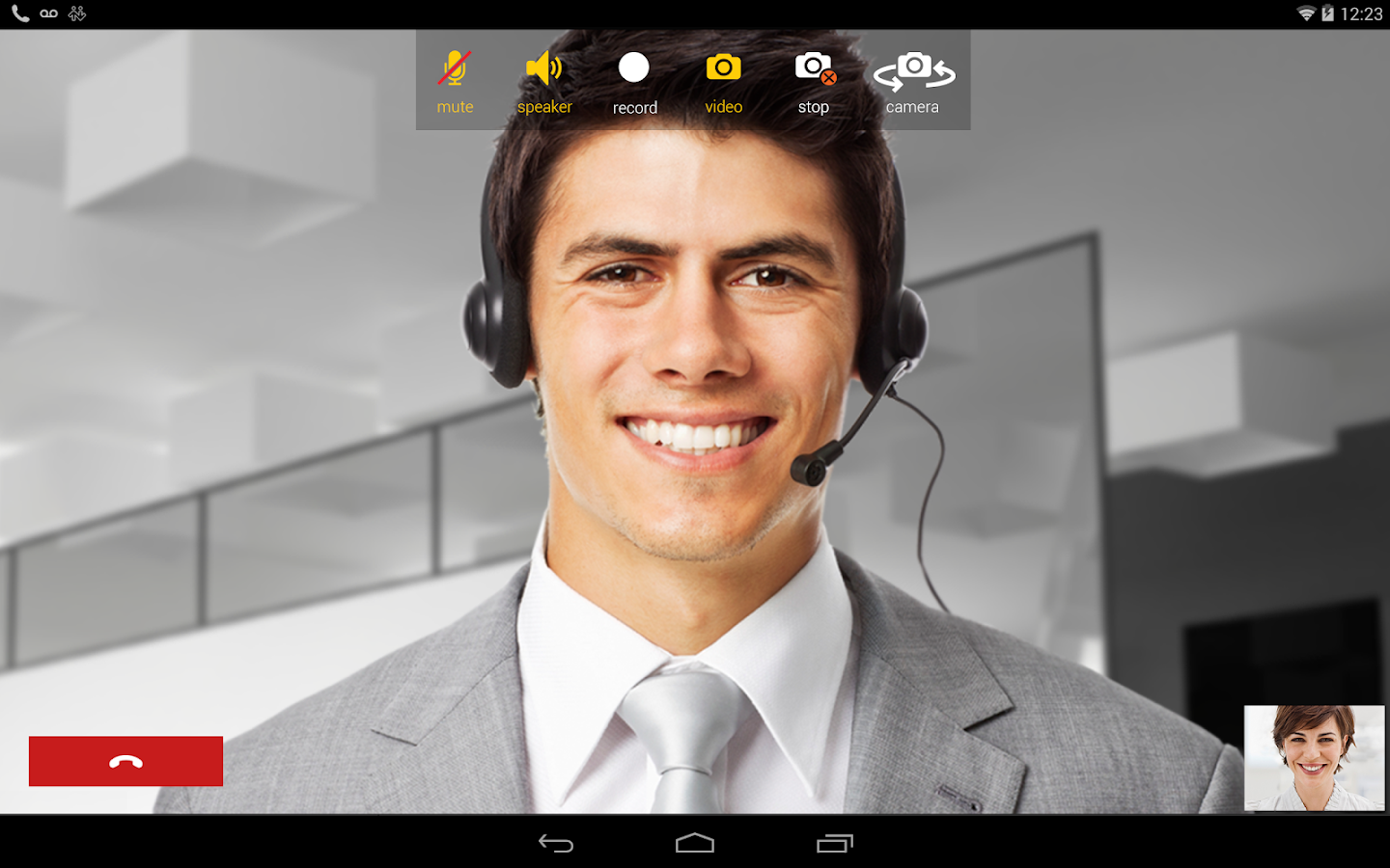 Bria Tablet VoIP SIP Softphone- screenshot