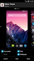 Screenshot of Apex Launcher Theme KitKat