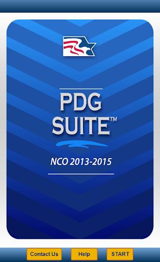 PDG Suite - NCO '13