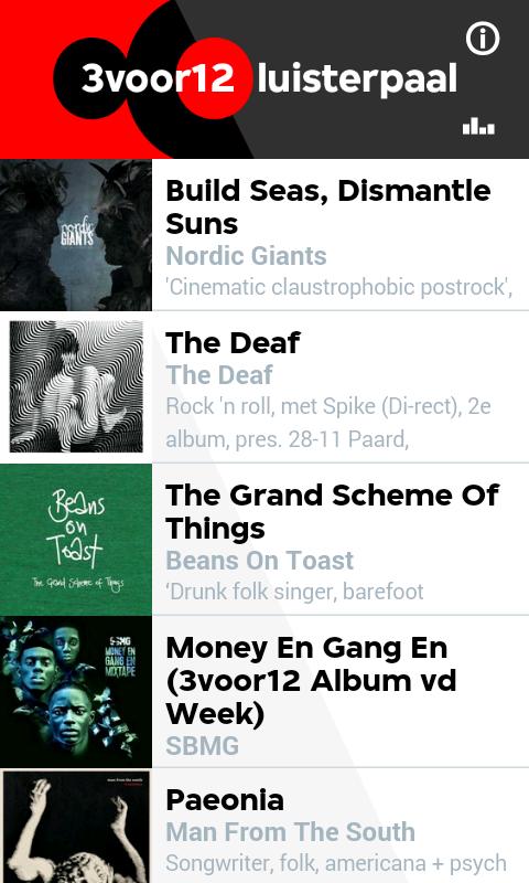 3VOOR12 Luisterpaal - screenshot