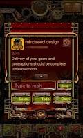 Screenshot of Steampunk GO SMS Theme