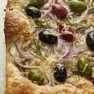 Red Onion & Olive Tart