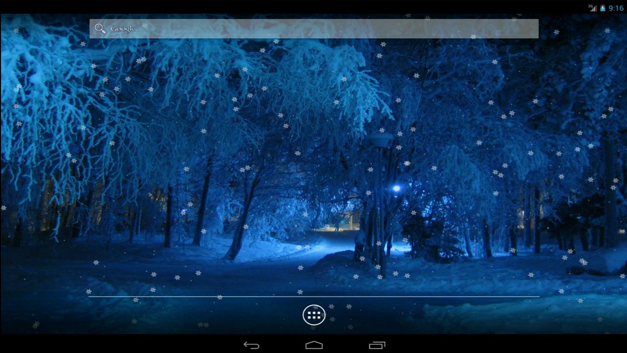 Χιονόπτωση Ζωντανή Ταπετσαρία - screenshot