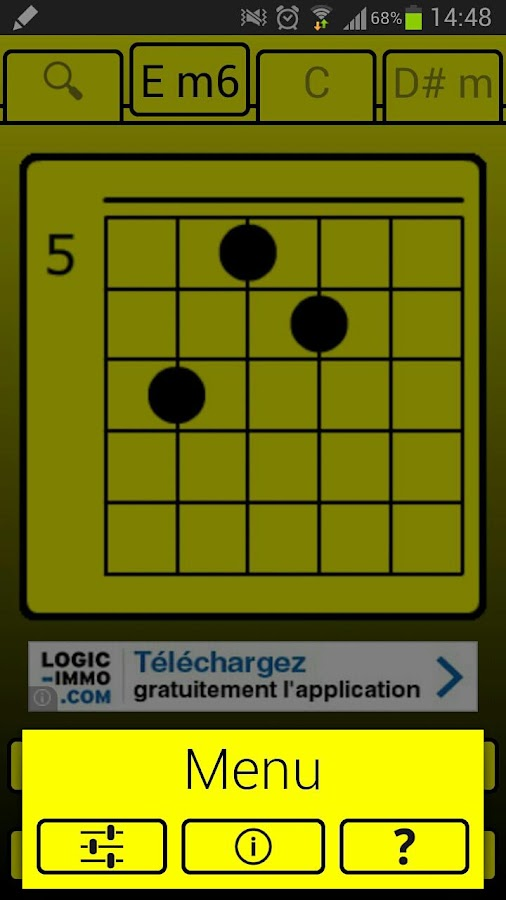 YoChord (Guitar chords)- screenshot