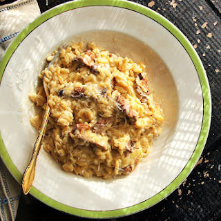 Creamy Orzo Risotto with Meyer Lemon and Wild Mushrooms.
