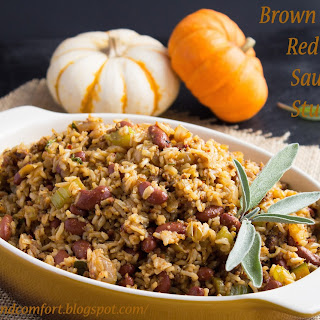 Brown Rice and Red Bean Sausage Stuffing (Throwback Thursday).
