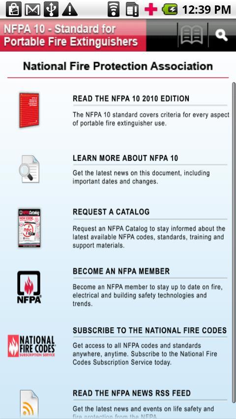 NFPA 10 2010 Edition- screenshot