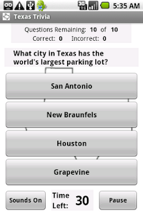 States Trivia - Texas - screenshot thumbnail