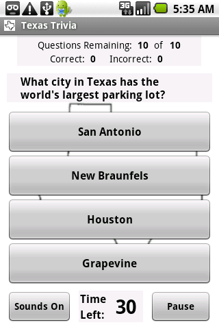 States Trivia - Texas - screenshot
