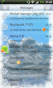 GO SMS Pro Winter Mountain - screenshot thumbnail
