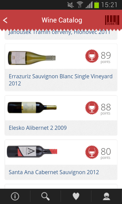 101CORKS, wine cellar&ratings - screenshot