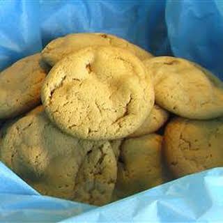 Caramel Nougat Bar Peanut Butter Cookies.