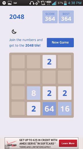 Blue 2048+ Puzzle App