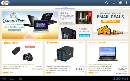 Newegg for Tablet - screenshot thumbnail